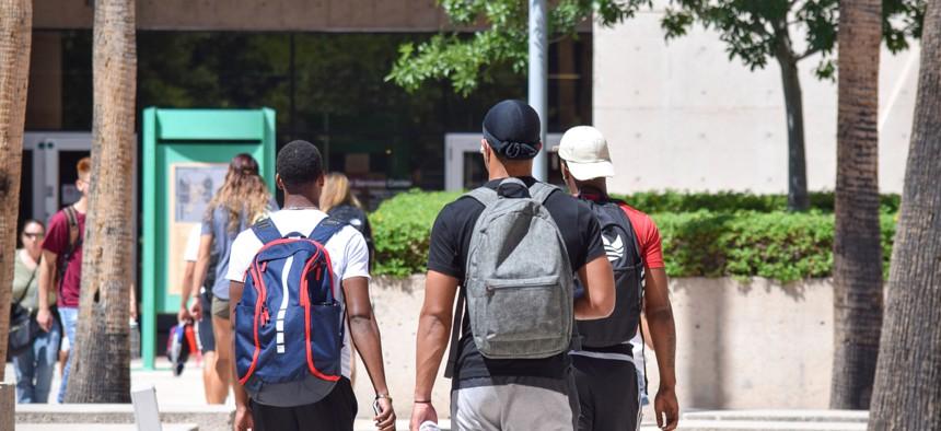 College students return to school at Pima Community College in Tucson, Ariz. on Aug. 27, 2018.