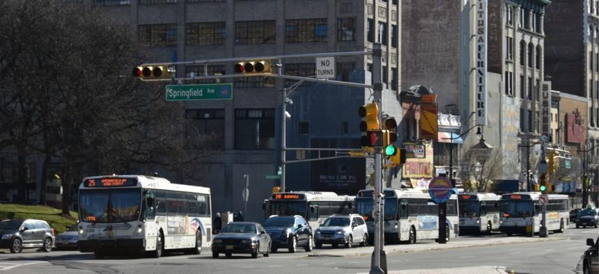 Downtown Newark, New Jersey.