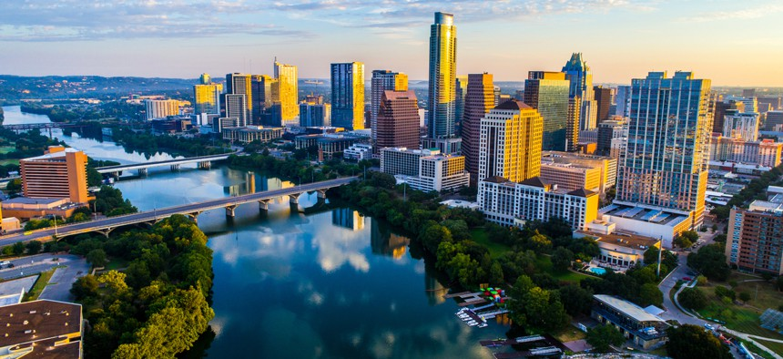 Austin, TX skyline. As cities, suburbs and rural communities look to bolster economic development in the wake of the pandemic, they should adopt strategies that foster inclusive and resilient economic growth.