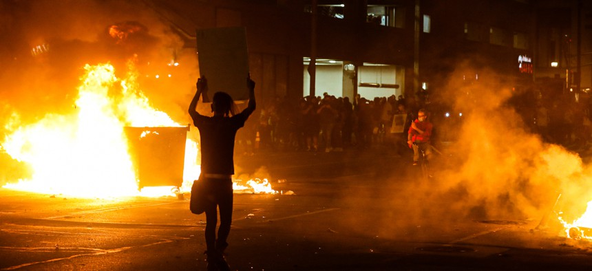 Protests in Indianapolis turned violent in May.