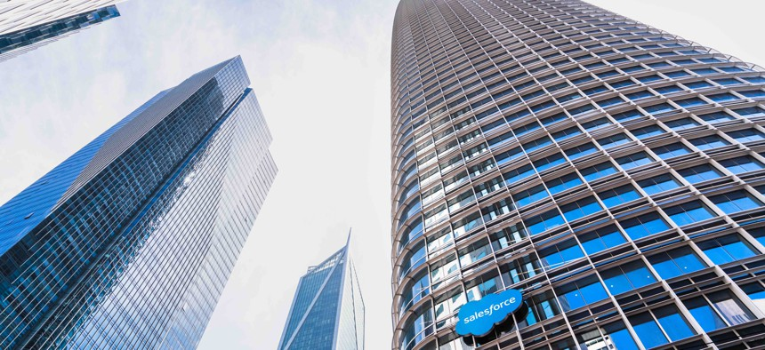 Salesforce's company headquarters in San Francisco.
