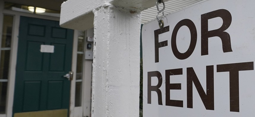 A For Rent sign is posted in Sacramento, Calif., Wednesday, Jan. 27, 2021.