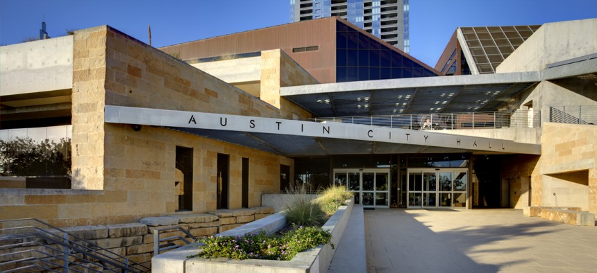 View of city hall in Austin, TX. Austin is one of several cities that has created a chief equity officer position.