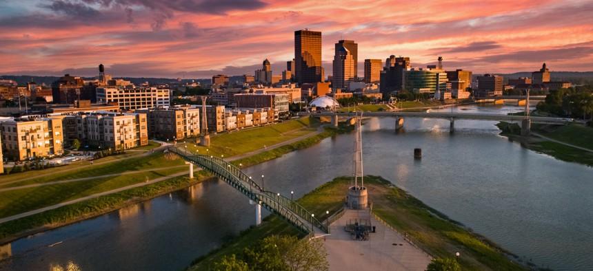 Downtown Dayton, Ohio.