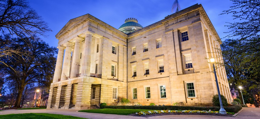 North Carolina's state Capitol building, in Raleigh.