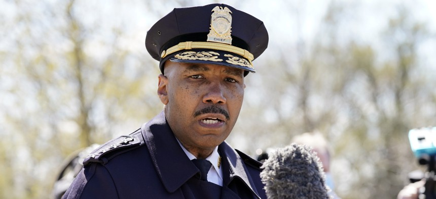 Washington Metropolitan Police Department chief Robert Contee speaks during a news conference after a car crashed into a barrier on Capitol Hill near the Senate side of the U.S. Capitol in Washington, Friday, April 2, 2021.