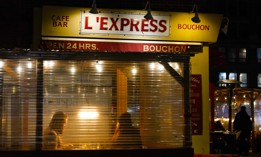 In this Feb. 13, 2021 file photo, people dine in at the restaurant L'Express in New York.