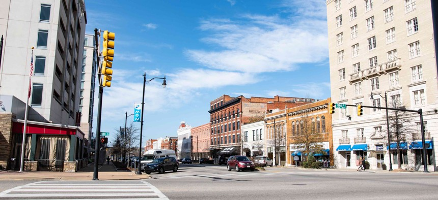 A view of Commerce Street in Montgomery, Alabama. The Montgomery area is one of the places that will receive EDA grants under the CARES Act.
