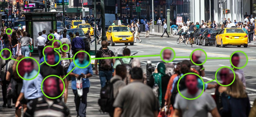 Facial Recognition technology used in New York City.