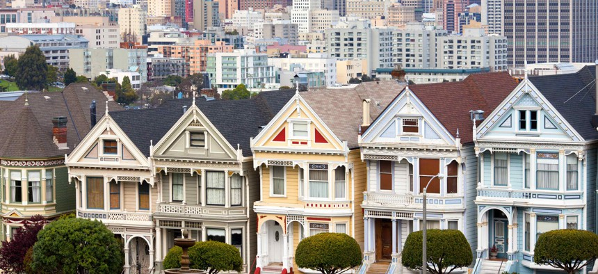 San Francisco, seen here, is one of the places where survey respondents said people need a net worth in the millions to feel financially comfortable.