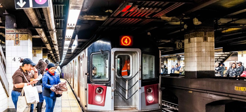 New York City subway platform.