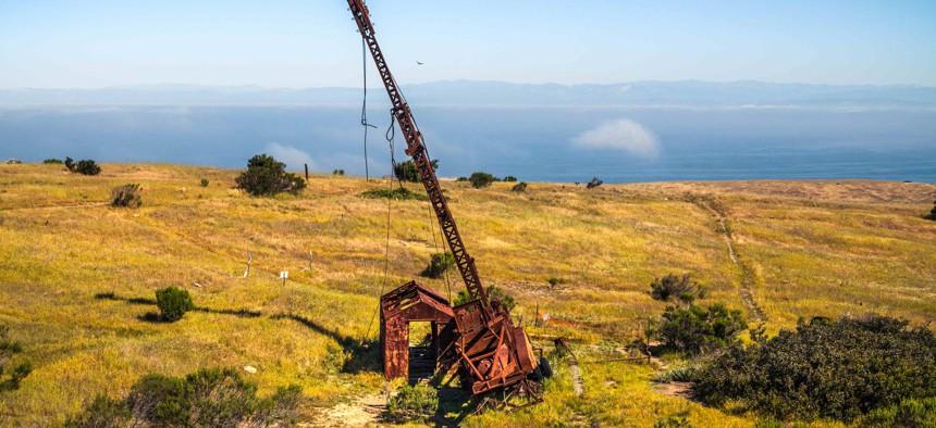 Abandoned Oil Drilling Site, Santa Cruz Island, California.