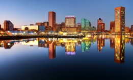 Downtown Baltimore, Maryland.