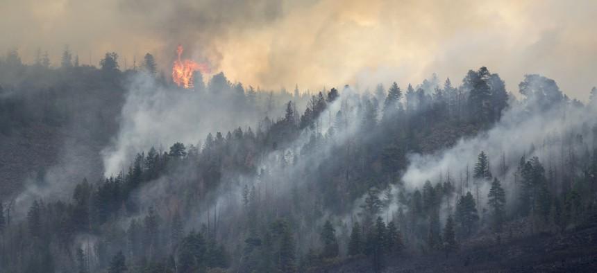 Lake Christine forest fire Basalt Mountain Colorado Rocky Mountain wildfire.