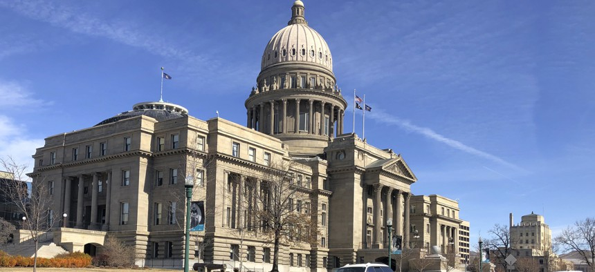 In this March 4, 2020, file photo, is the Idaho Statehouse in Boise, Idaho.
