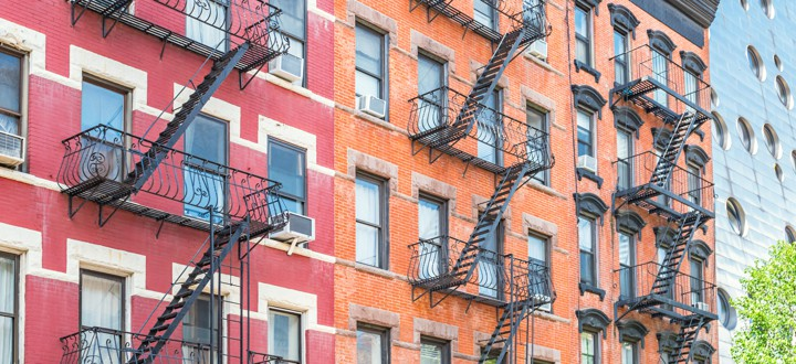 Apartments in the Chelsea section of New York City.