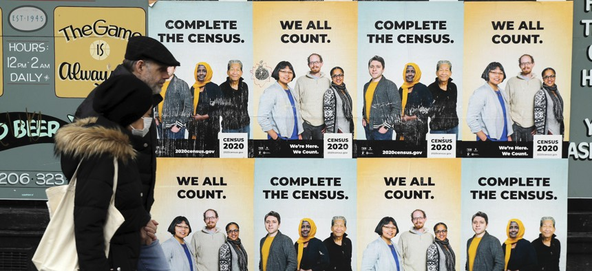 Posters encourage census participation in Seattle. New census figures show Washington state saw the biggest increase in diversity of any state.