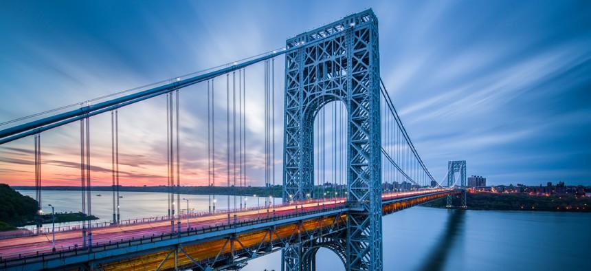 George Washington Bridge from New York City to Northern New Jersey.