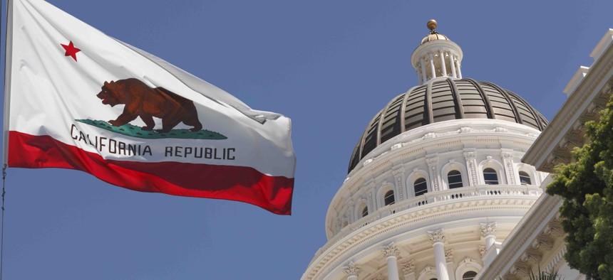 The California state capitol building in Sacramento.