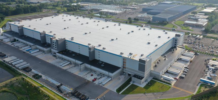 The new Amazon warehouse in Clay, which is north of Syracuse, is one of the company's largest in the world.