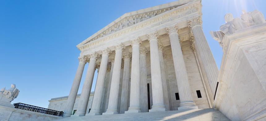 The U.S. Supreme Court building, in Washington, D.C.