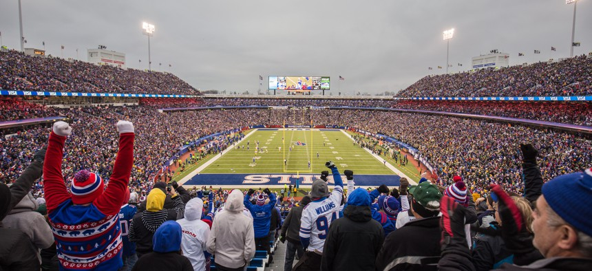 Gov. Kathy Hochul and Erie County Executive Mark Poloncarz have said their No. 1 goal is to keep the Bills in Buffalo.