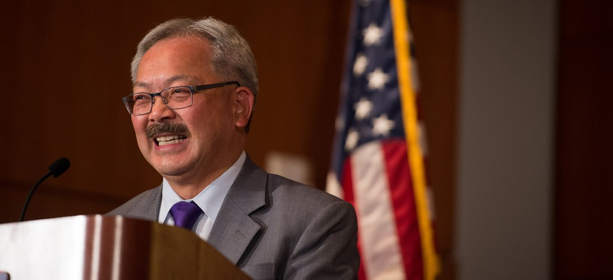 San Francisco Mayor Ed Lee signed legislation that will extend Ban the Box hiring rules to some private-sector employers in his city.
