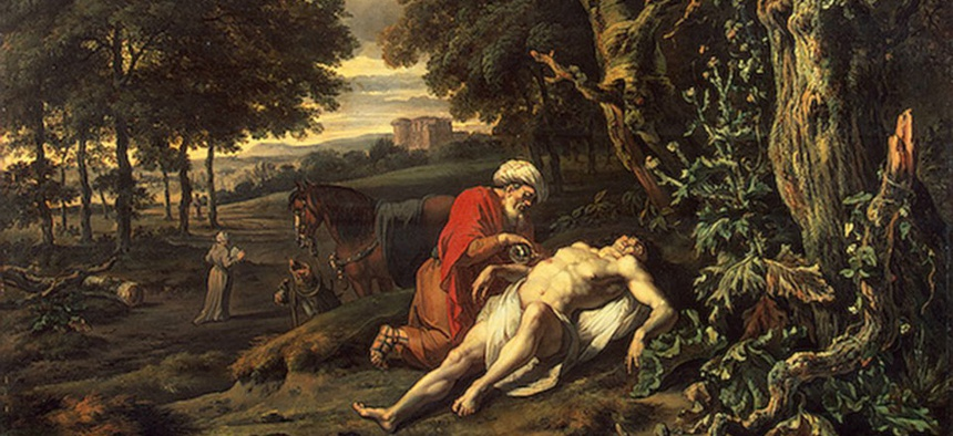 The Parable of the Good Samaritan by Jan Wijnants.