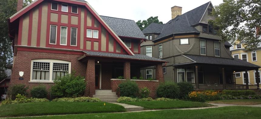 A street in Grand Rapids' Heritage Hill neighborhood.