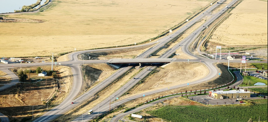 Interstate 15 in Idaho Falls, Idaho