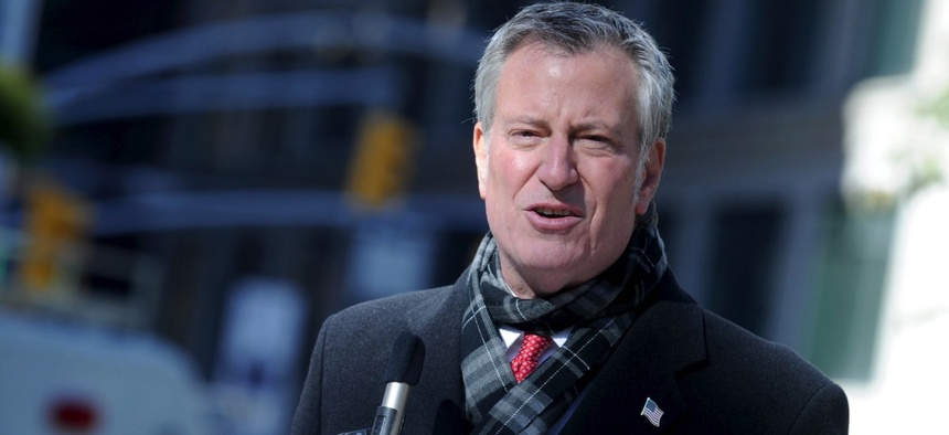 New York City Mayor Bill de Blasio
