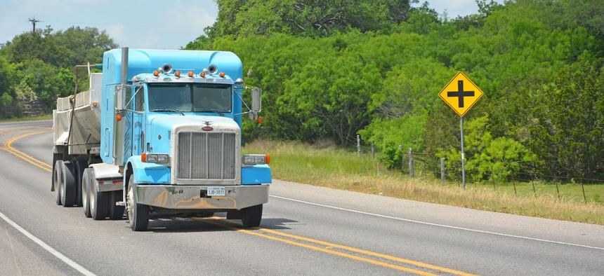 A rural road in Texas