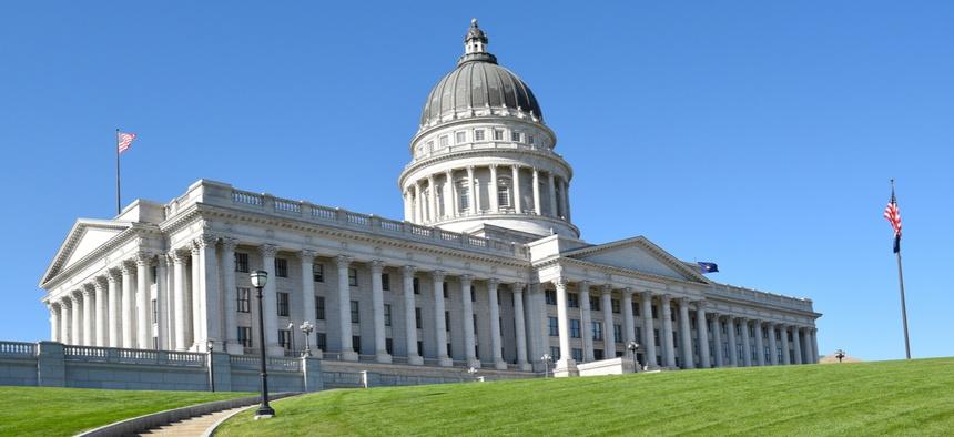 The Utah State Capitol in Salt Lake City