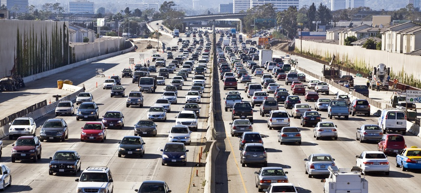 The 405 Freeway in Los Angeles