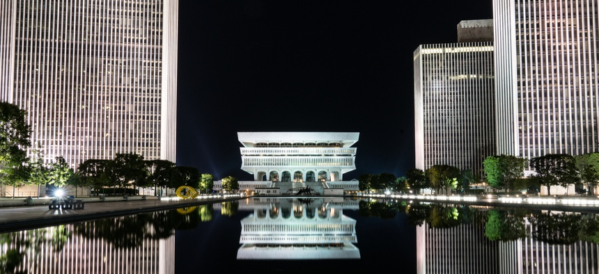 Empire State Plaza in Albany.