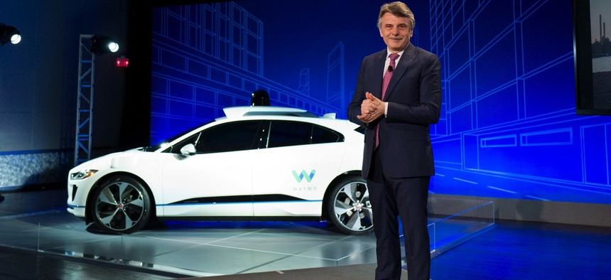Self-driving car pioneer Waymo will buy up to 20,000 of the electric vehicles from Jaguar Land Rover to help realize its vision for a robotic ride-hailing service.