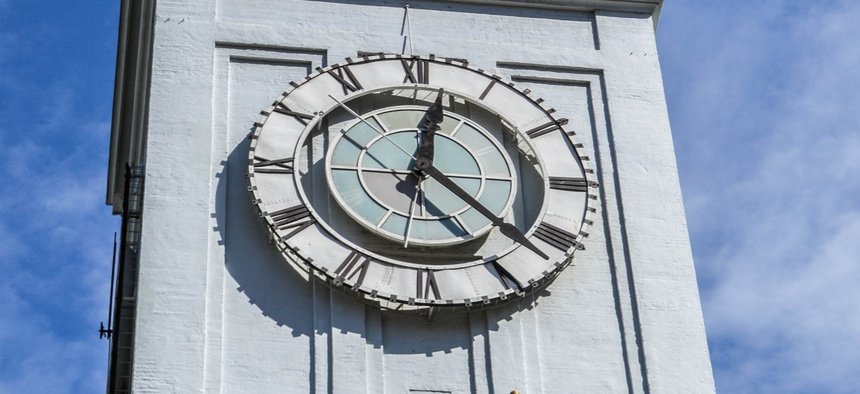 The clock on the Ferry Building in San Francisco