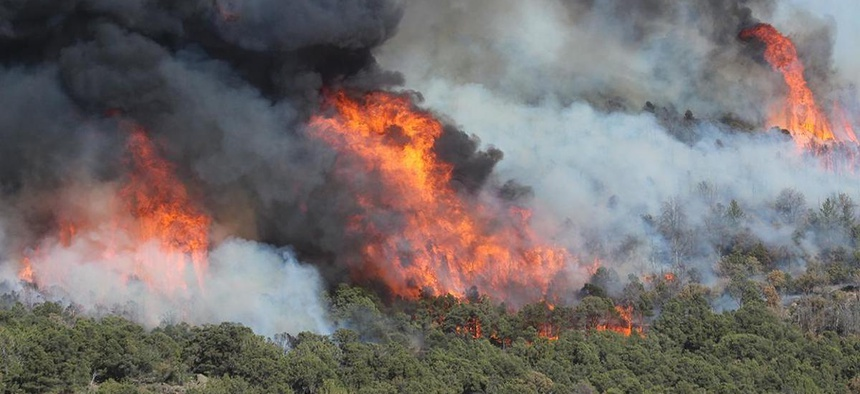 The West Valley Fire has been burning near the town of New Harmony in southwest Utah
