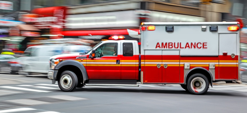 A new DHS contract tests technology to send alerts to drivers about responding emergency vehicles.