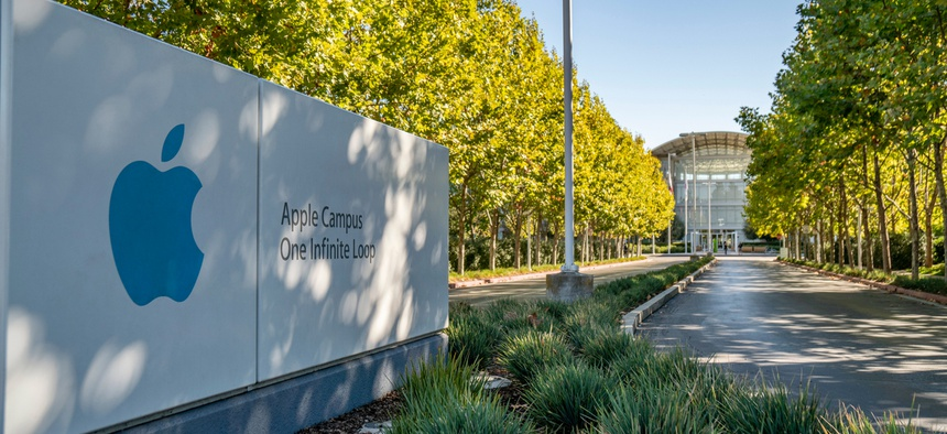 Apple campus in Cupertino, California.