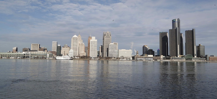 The Detroit skyline is seen, Friday, Jan. 11, 2019. Detroit is one of the cities seeking to embrace the Opportunity Zones program.