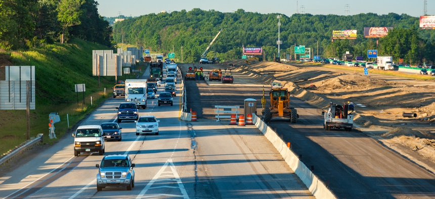 Construction along Interstate 271 in Bedford Heights, Ohio
