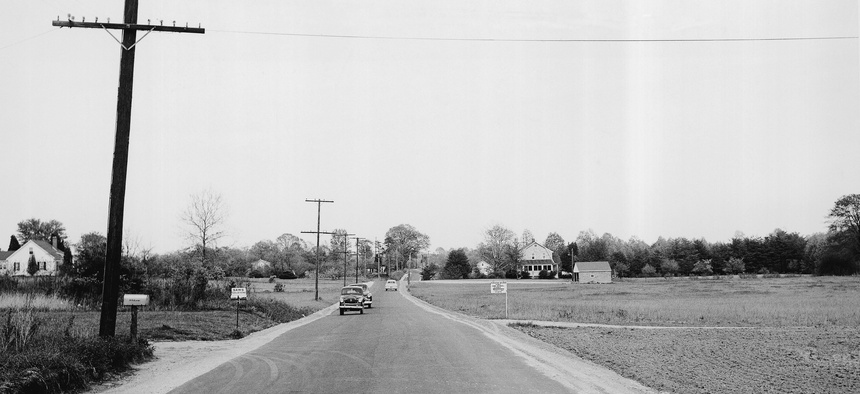 An old photo of Generals Highway in Maryland, where a pipe was recently found.