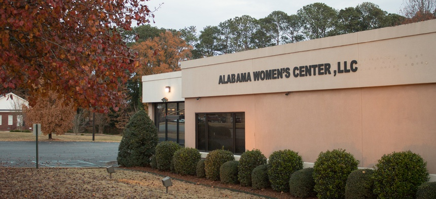 An abortion clinic in Huntsville, AL, one of three in the state.