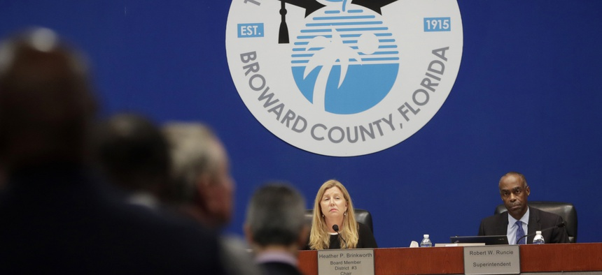 Robert Runcie of the Broward County School Board spoke out against the bill to arm teachers.
