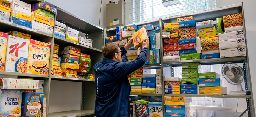Food banks have seen an influx of healthy foods.
