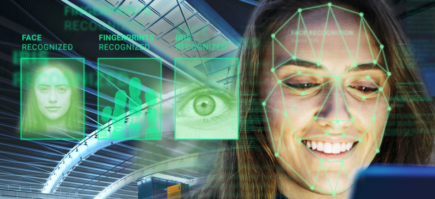 In this image released on Monday, Feb. 5, 2018, DERMALOG Identification Systems GmbH, based in Hamburg, offers state-of-the-art biometric recognition systems to make airport and other border controls safer and more efficient.