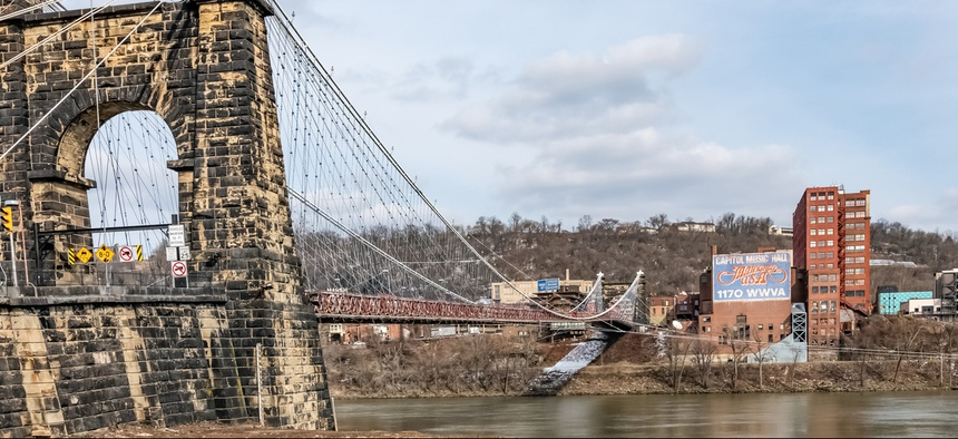 Wheeling, West Virginia, lies on a stretch of rural counties along the Ohio River that form the largest natural gas field in the world and helped Donald Trump win the state in 2016.