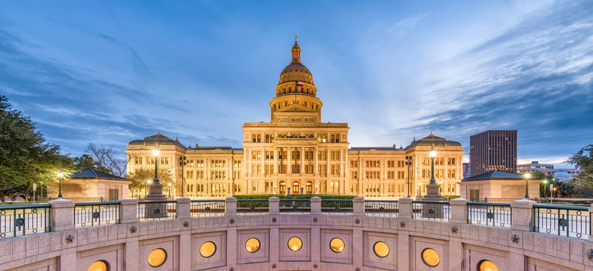 The Texas state capital.