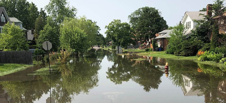 In July, Detroit River and canal water pouring over and through seawalls flooded streets, homes, and basements on Detroit's east side.